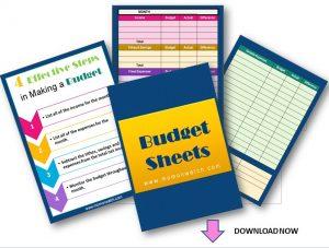 Free Budget Sheets